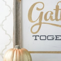 Wood Frame Chair Best Office For Short Person Gold Leaf Signs Thanksgiving - Gather Together