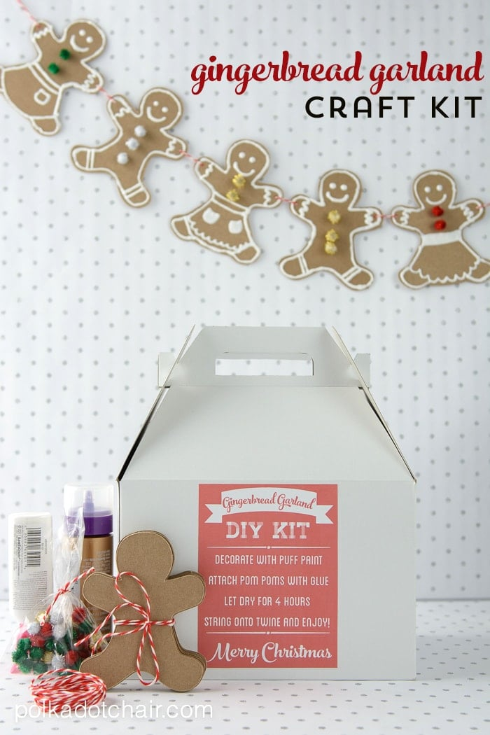 DIY Gingerbread Man Craft Kit For Christmas
