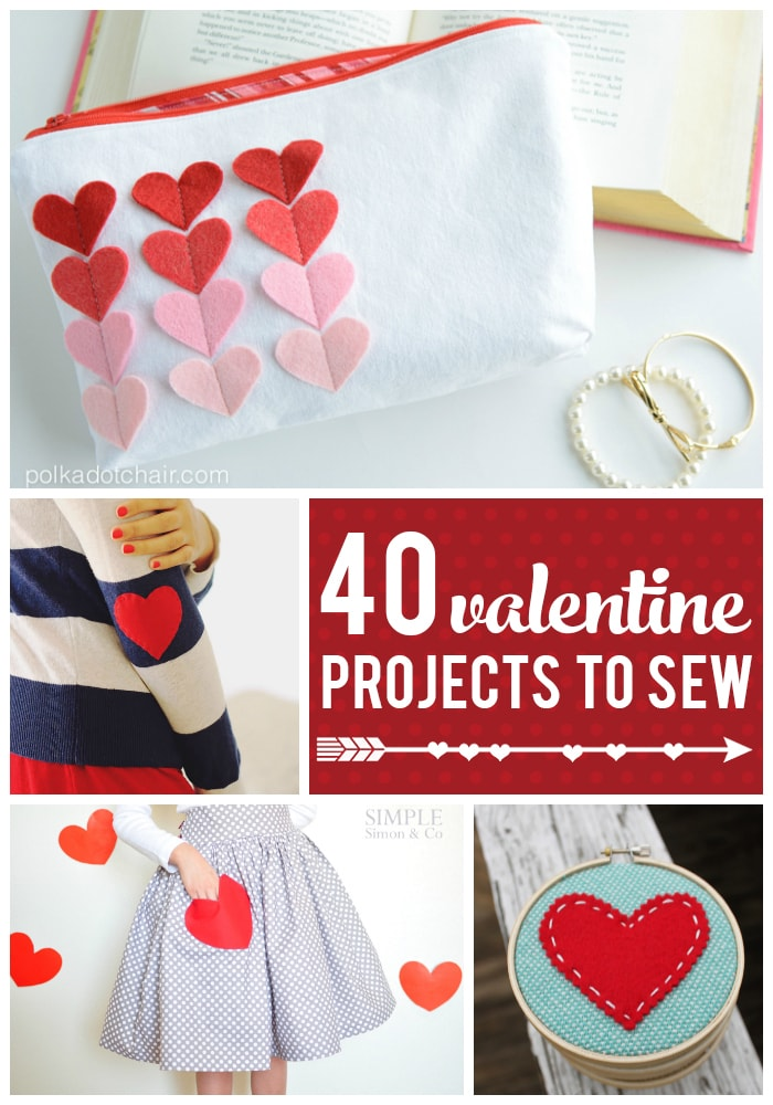 40 Valentines Day Projects to Sew on Polka Dot Chair