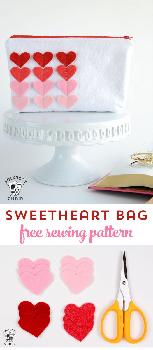 flip out chair summer infant classic comfort wood high sweet heart zip pouch: valentine's day sewing projects