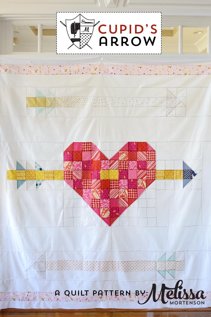 Cupids Arrow A Patchwork Heart Quilt Pattern