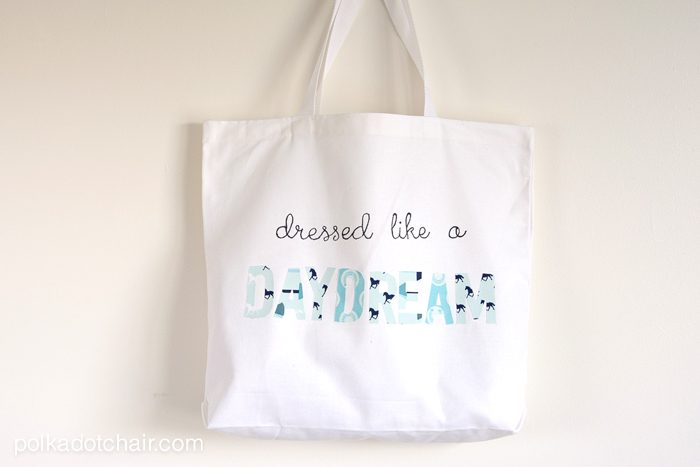 Dressed Like a Daydream DIY Tote Bag