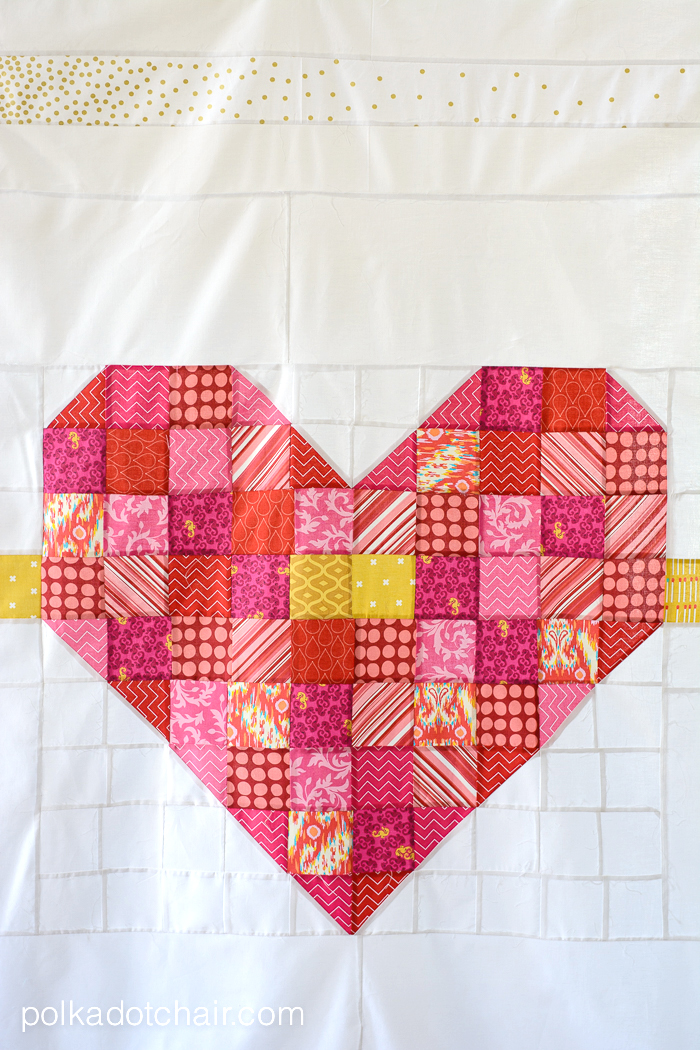 Cupids Arrow A Patchwork Heart Quilt Pattern