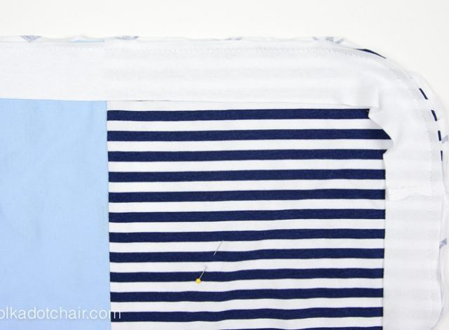 Upcycle your old or sentimental t-shirts into a receiving blanket for a new baby!