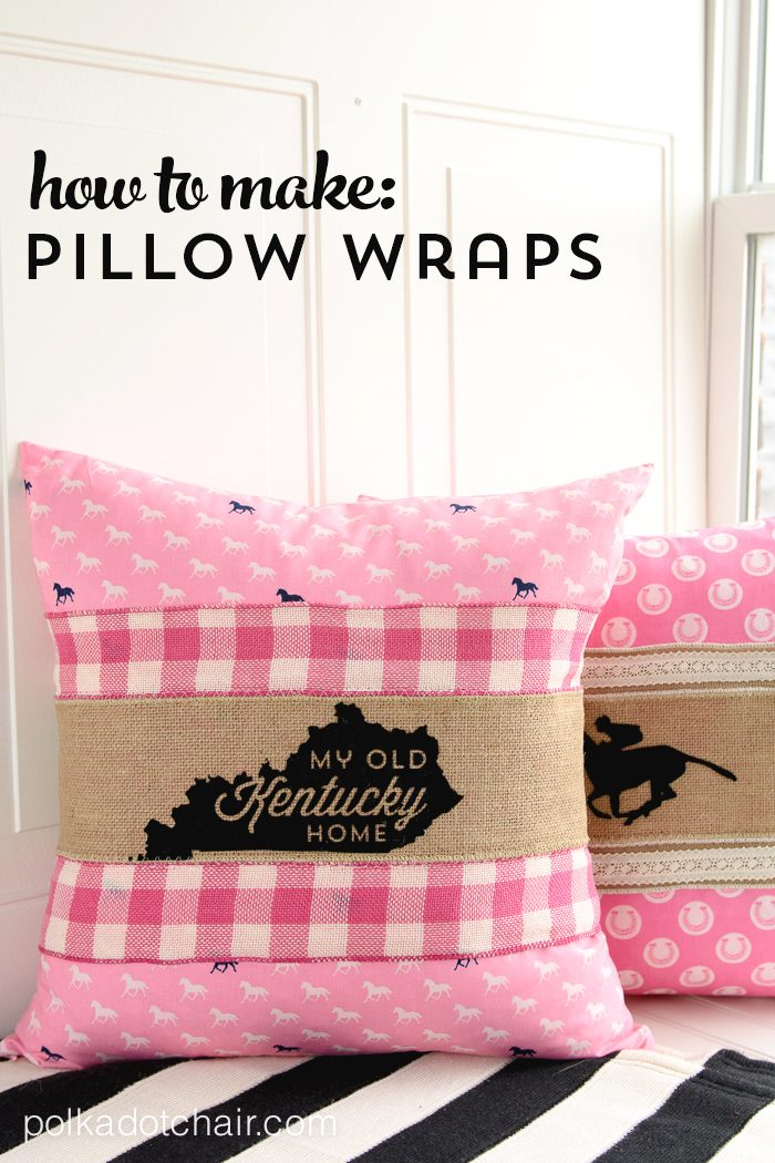 chair covers sofa nightmare before christmas how to make pillow wraps - a kentucky derby craft idea