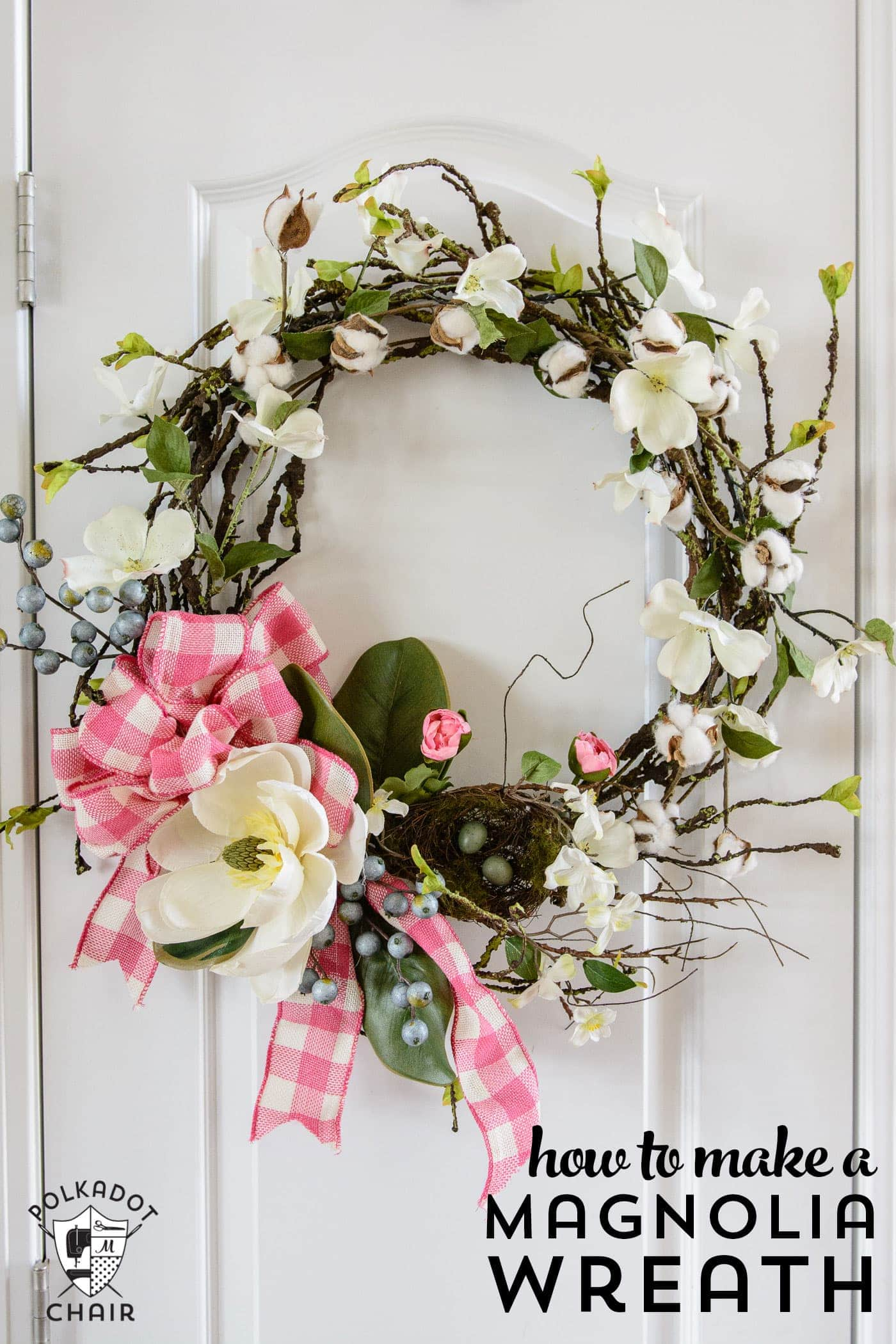 high chair on upholstered office chairs diy magnolia spring wreath ideas