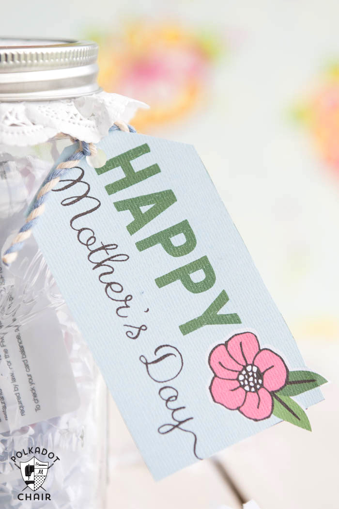 Mothers Day Mason Jar Gift Ideas And Free Printable Tags