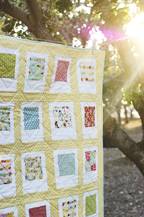 45 Beginner Quilt Patterns and Tutorials on Polka Dot Chair