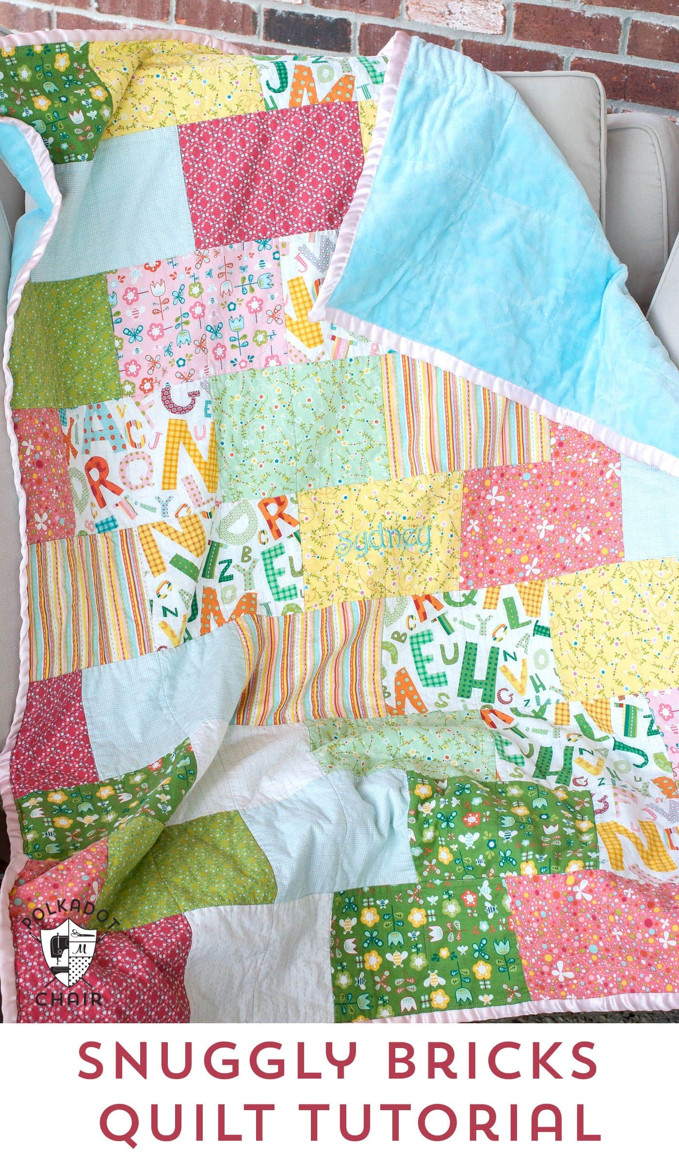 hanging chair images steelcase jersey snuggly bricks quilt: tuesday tutorial.. - the polkadot