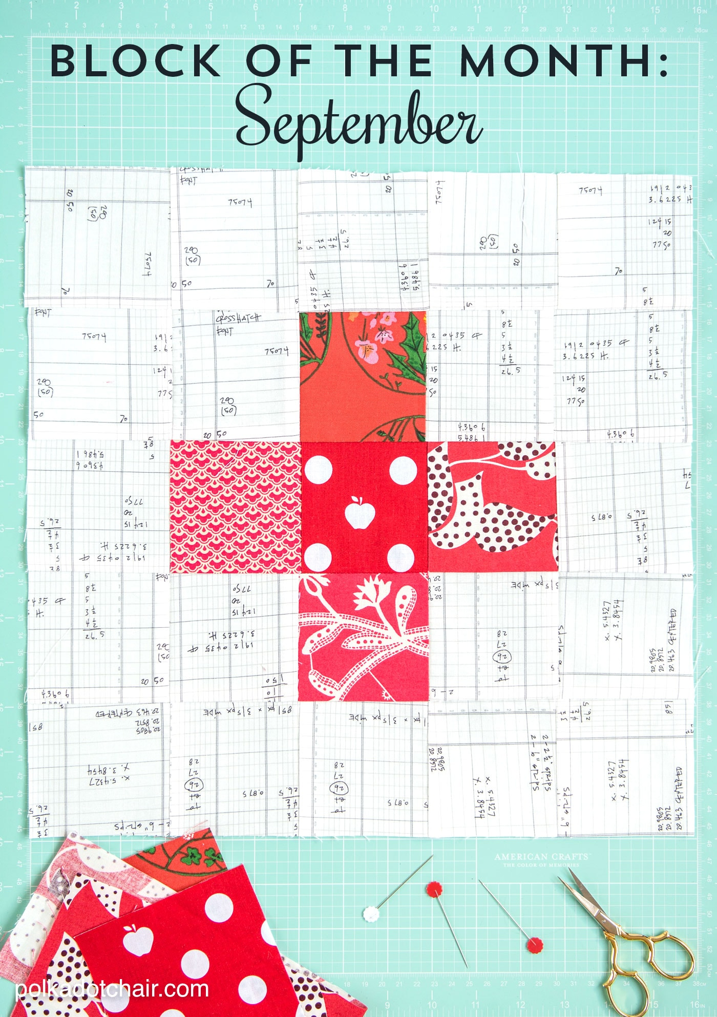 September Block of the Month a Plus Quilt Block Tutorial