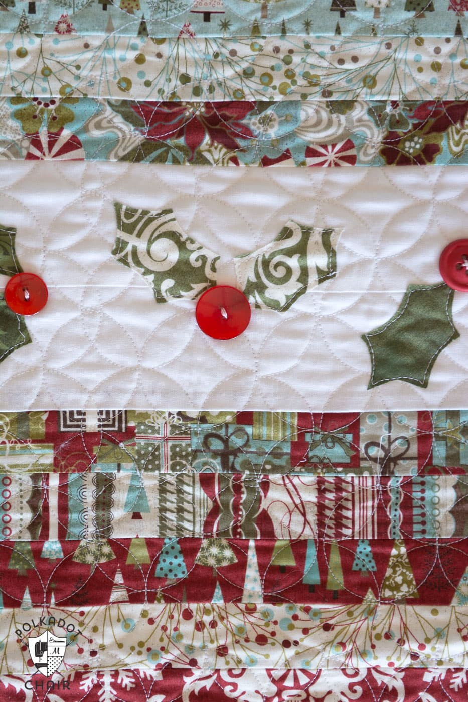 Simple Christmas Quilted Table Runner Wallseat Co