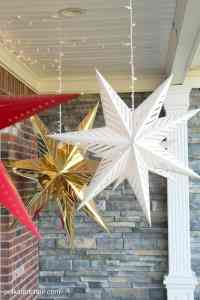Hanging Star Lanterns; a Christmas Front Porch Decorating ...