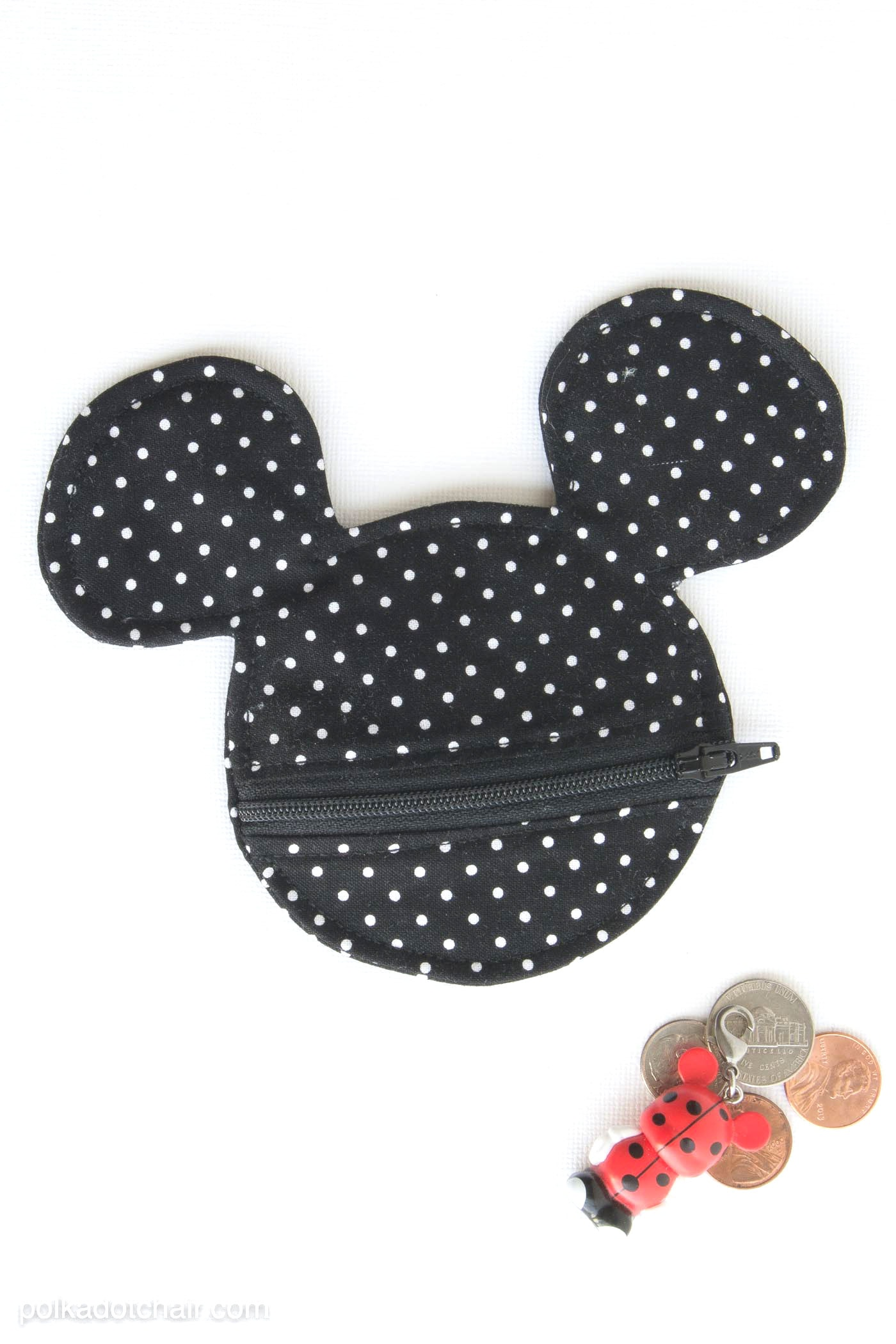 Mickey Mouse Earbuds Pouch  Coin Purse Sewing Pattern
