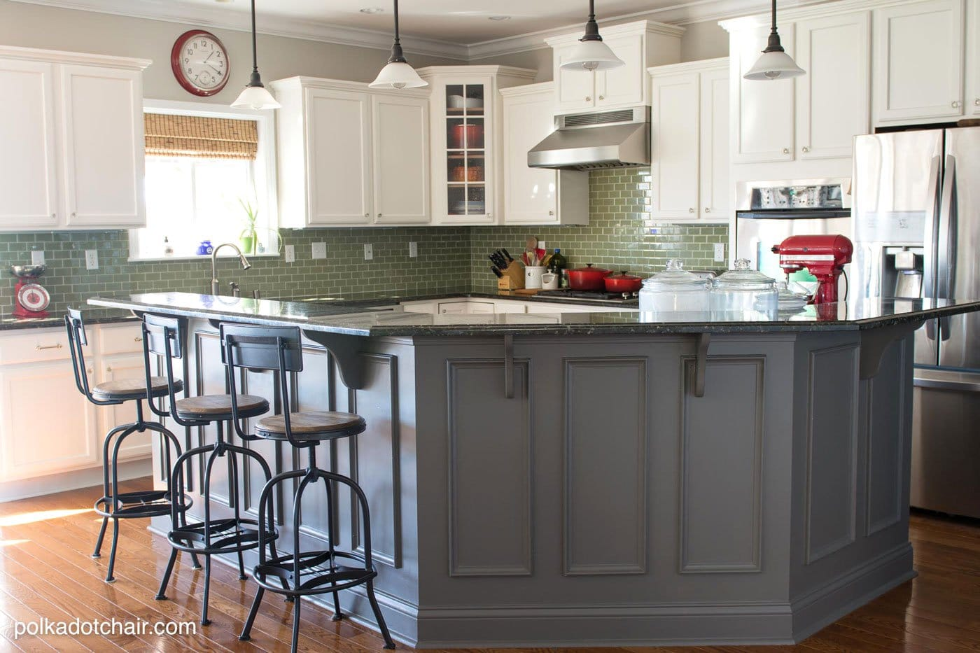 painted kitchen islands affordable remodel tips for painting cabinets the polka dot chair