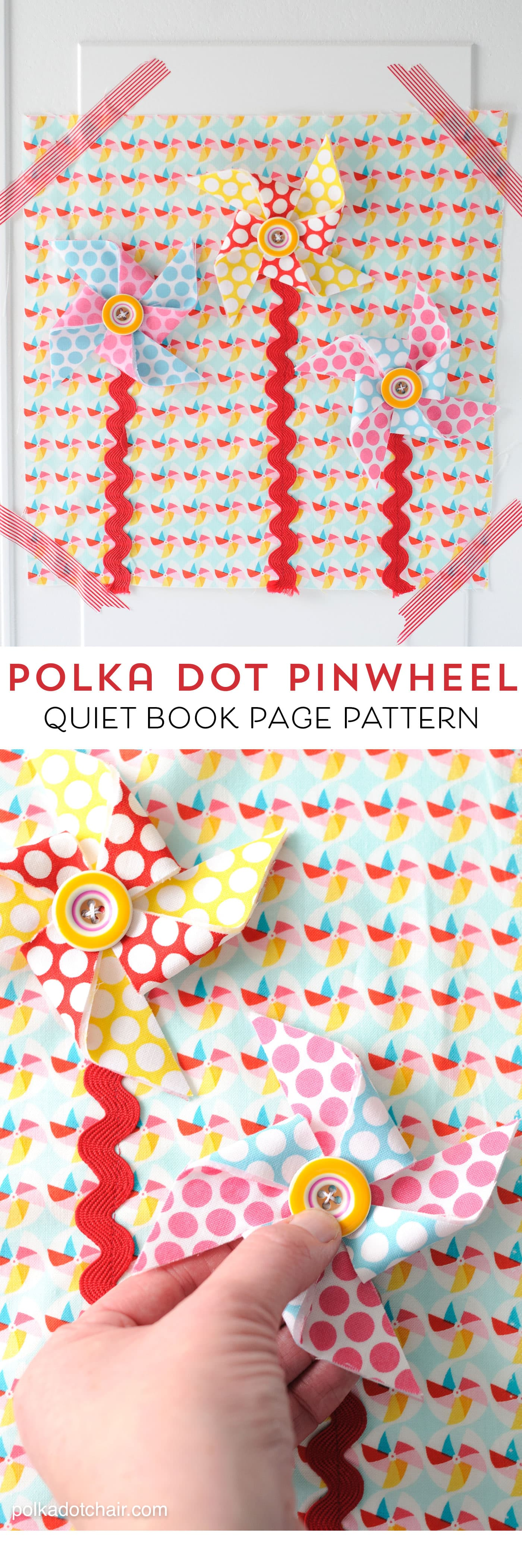 Pinwheel Quiet Book Page Sewing Pattern  The Polka Dot Chair