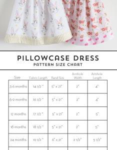 1434b1d8e Pillowcase Dress Pattern Size Chart - www.homeschoolingforfree.org