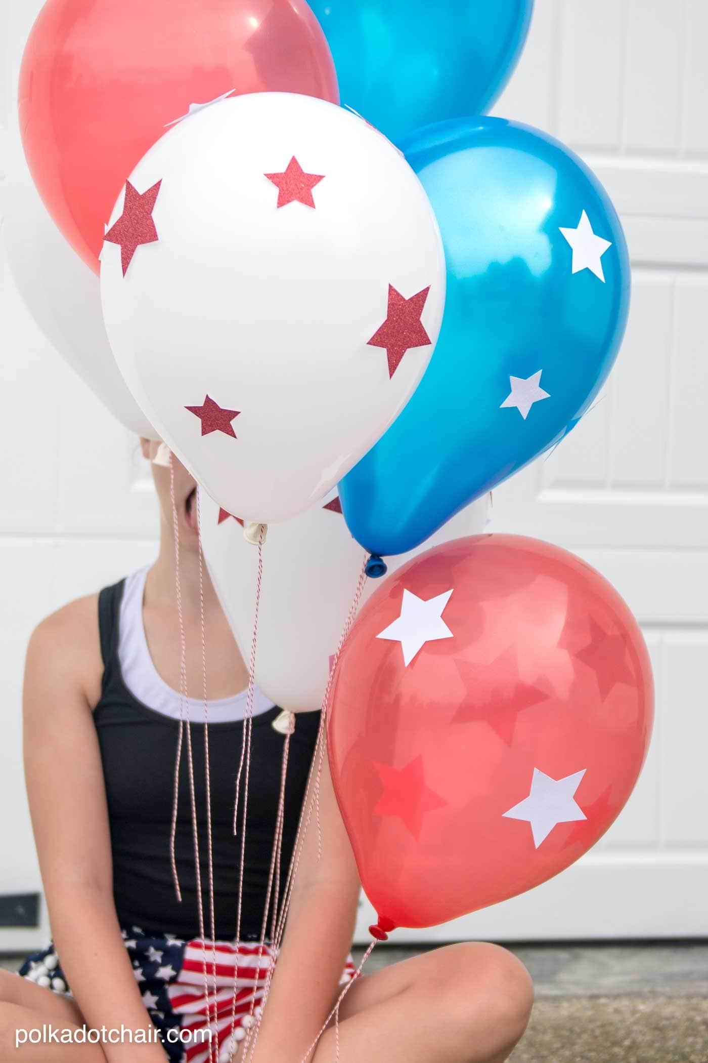 DIY Star Spangled 4th of July Balloons  The Polka Dot Chair