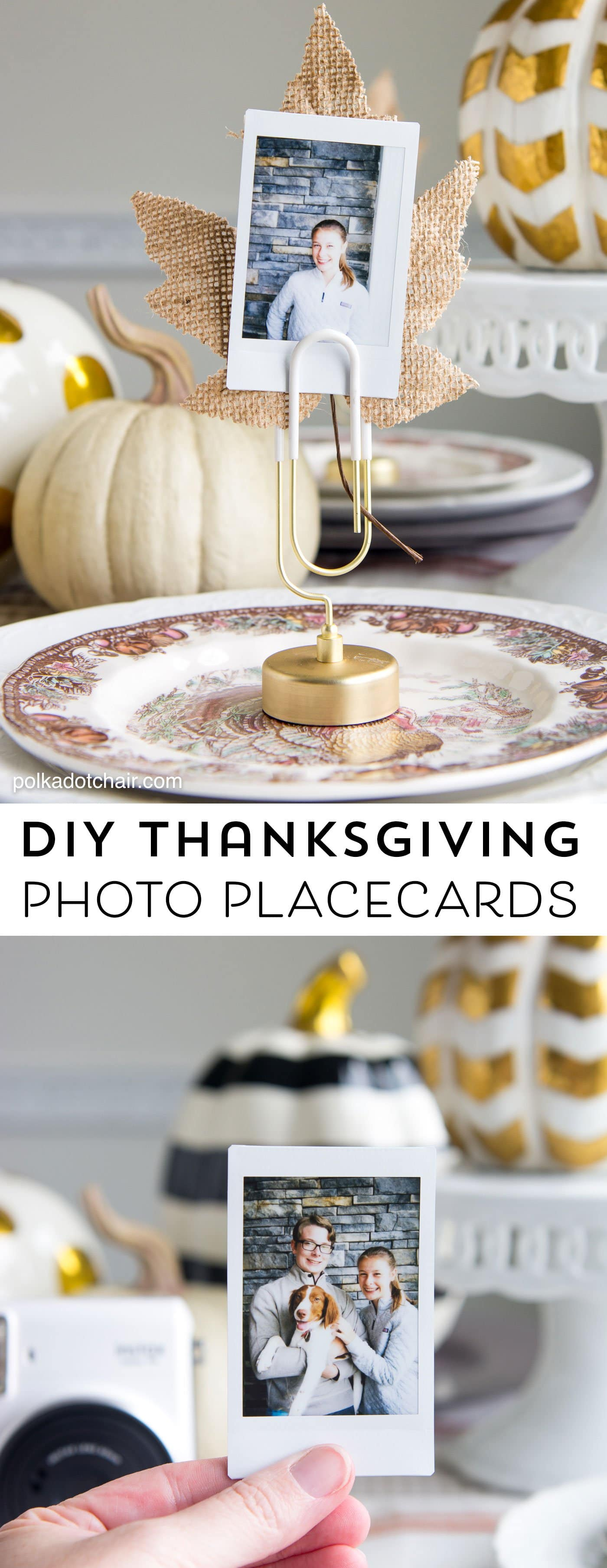 DIY Thanksgiving Place Cards Idea  Visa Gift Card
