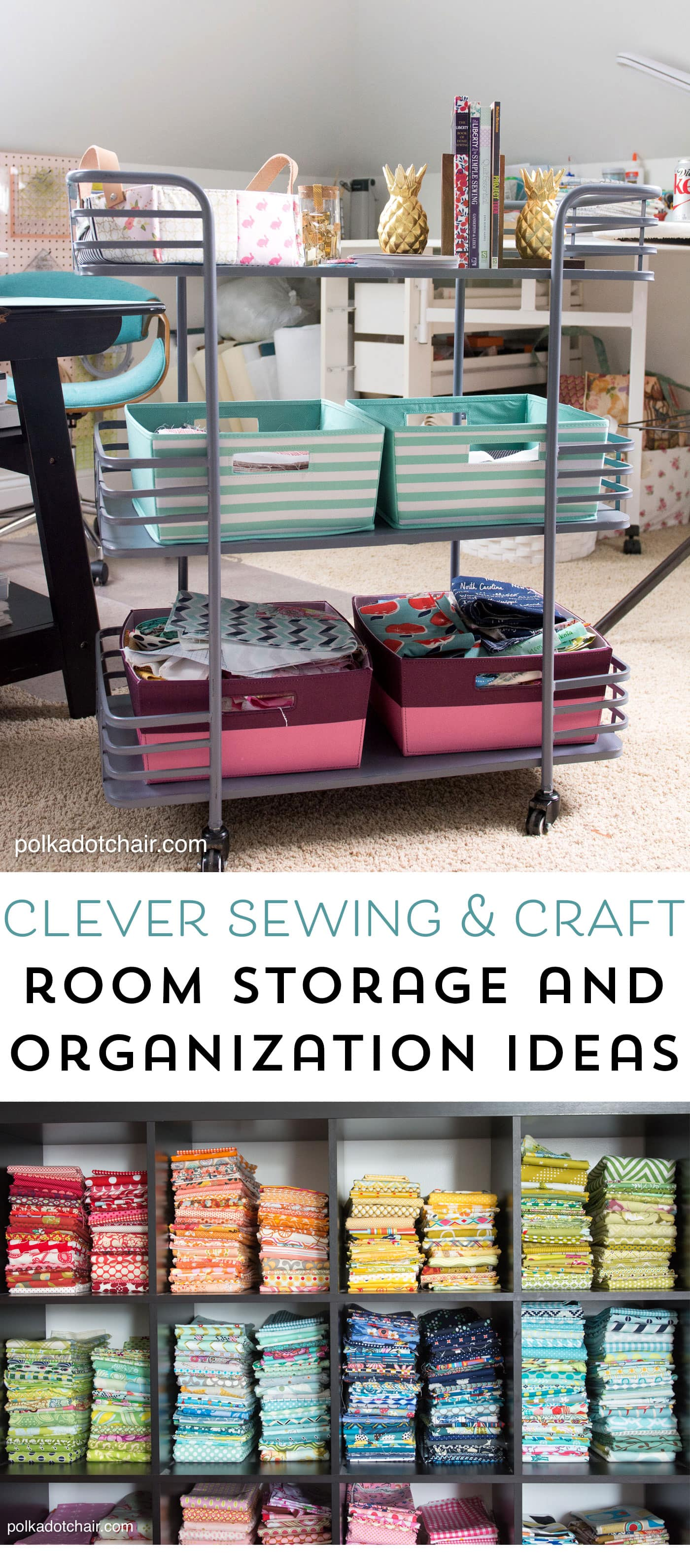 Cute  Clever Sewing Room Organization Ideas  HomeGoods Giveaway  The Polka Dot Chair