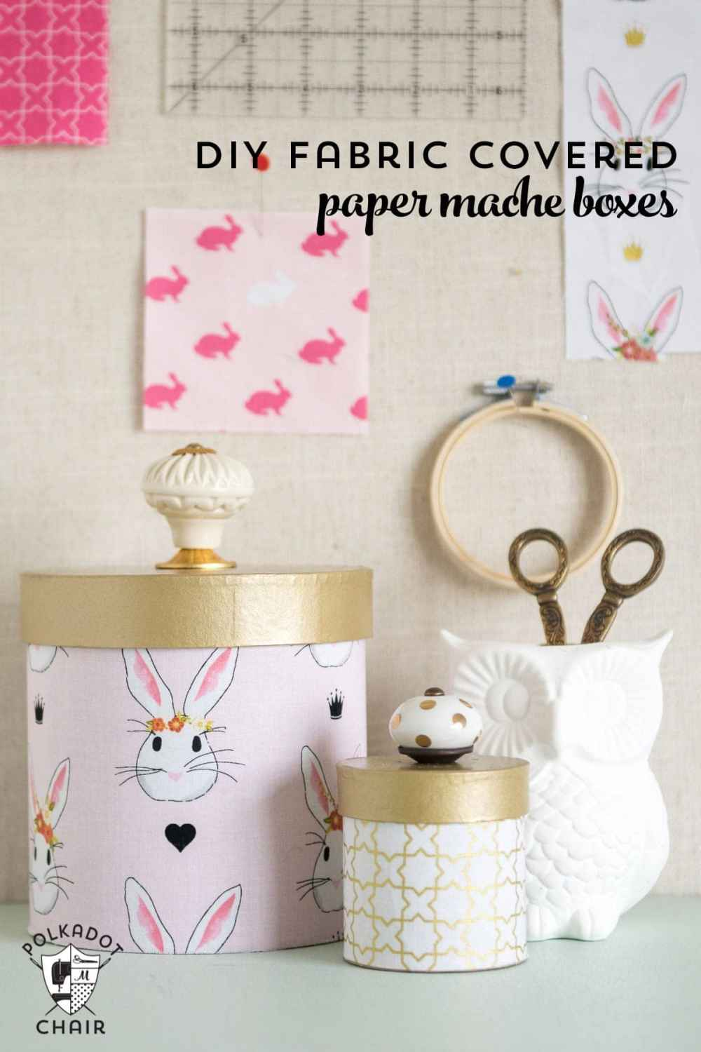 medium resolution of learn how to cover paper mache boxes with fabric to make these cute diy storage containers