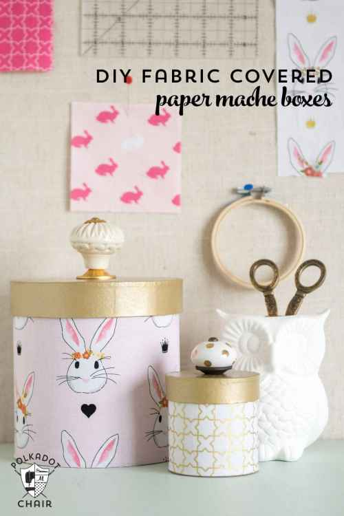 small resolution of learn how to cover paper mache boxes with fabric to make these cute diy storage containers
