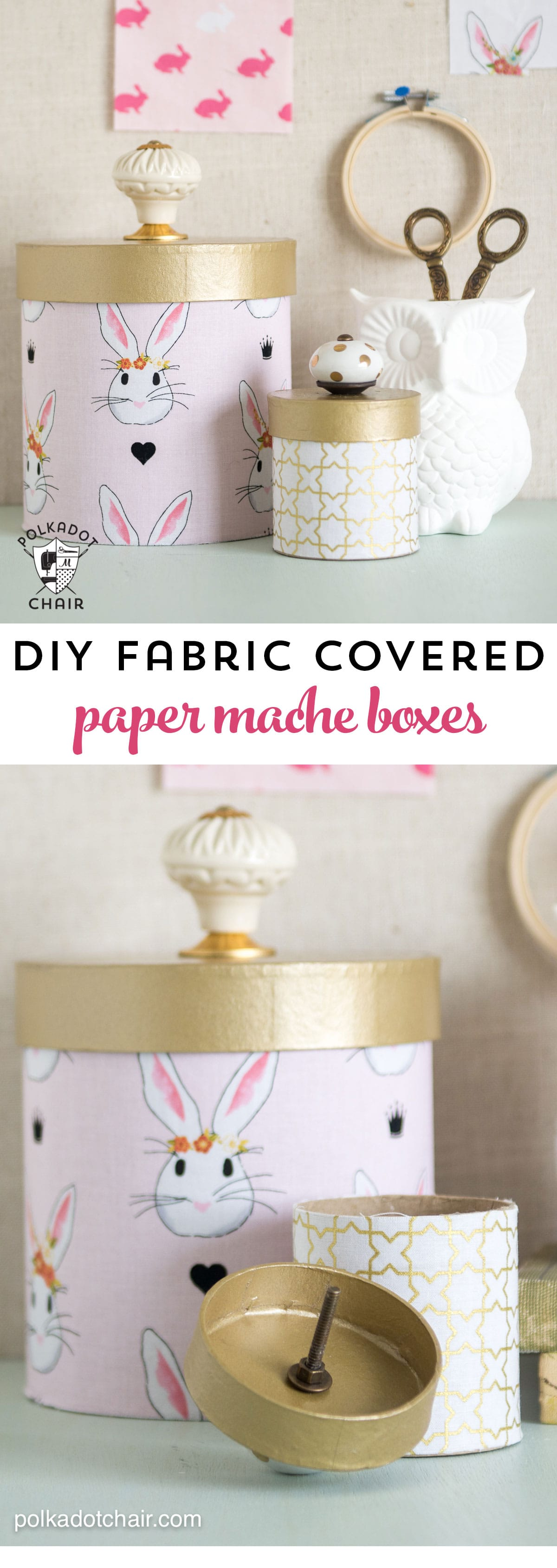 chair covers craft ideas cover alternatives wedding how to paper mache boxes with fabric the polka dot