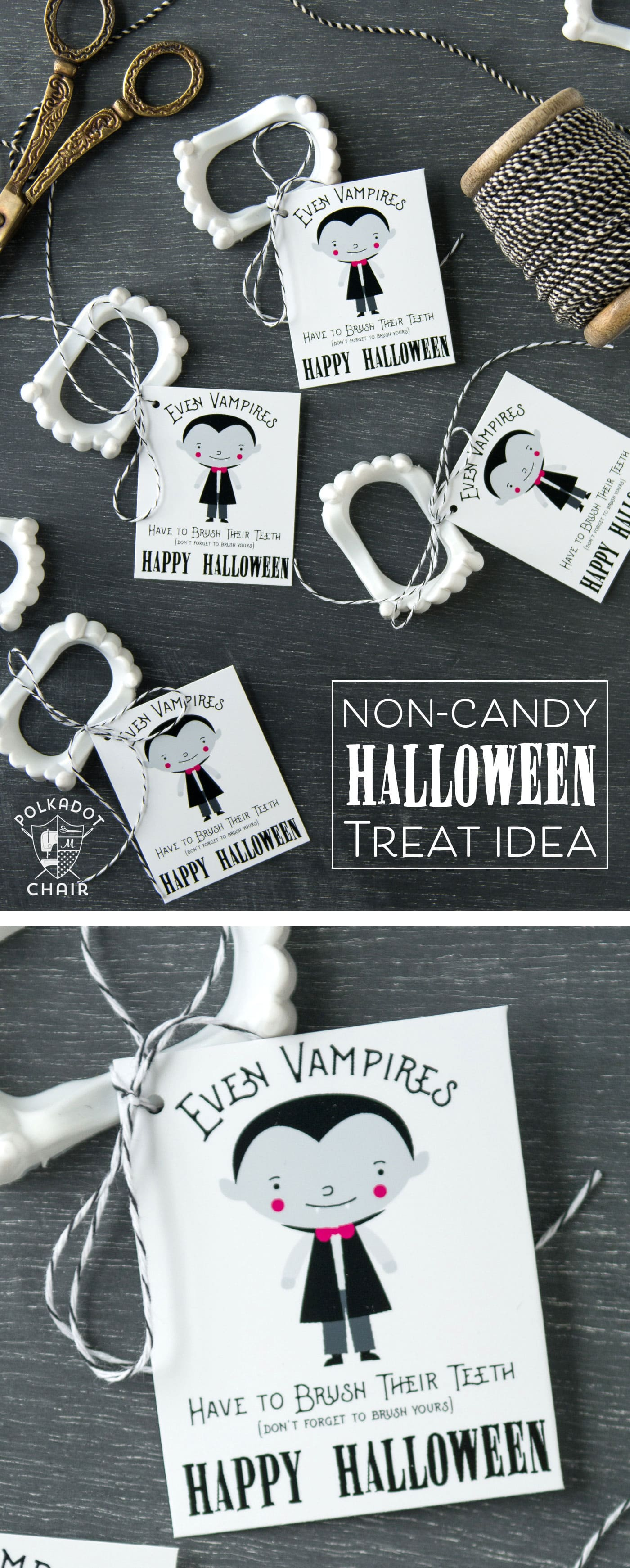 Cute Non Candy Halloween Treat Idea and Free Printable
