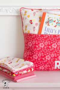 How to Sew a Reading Pillow - The Polka Dot Chair
