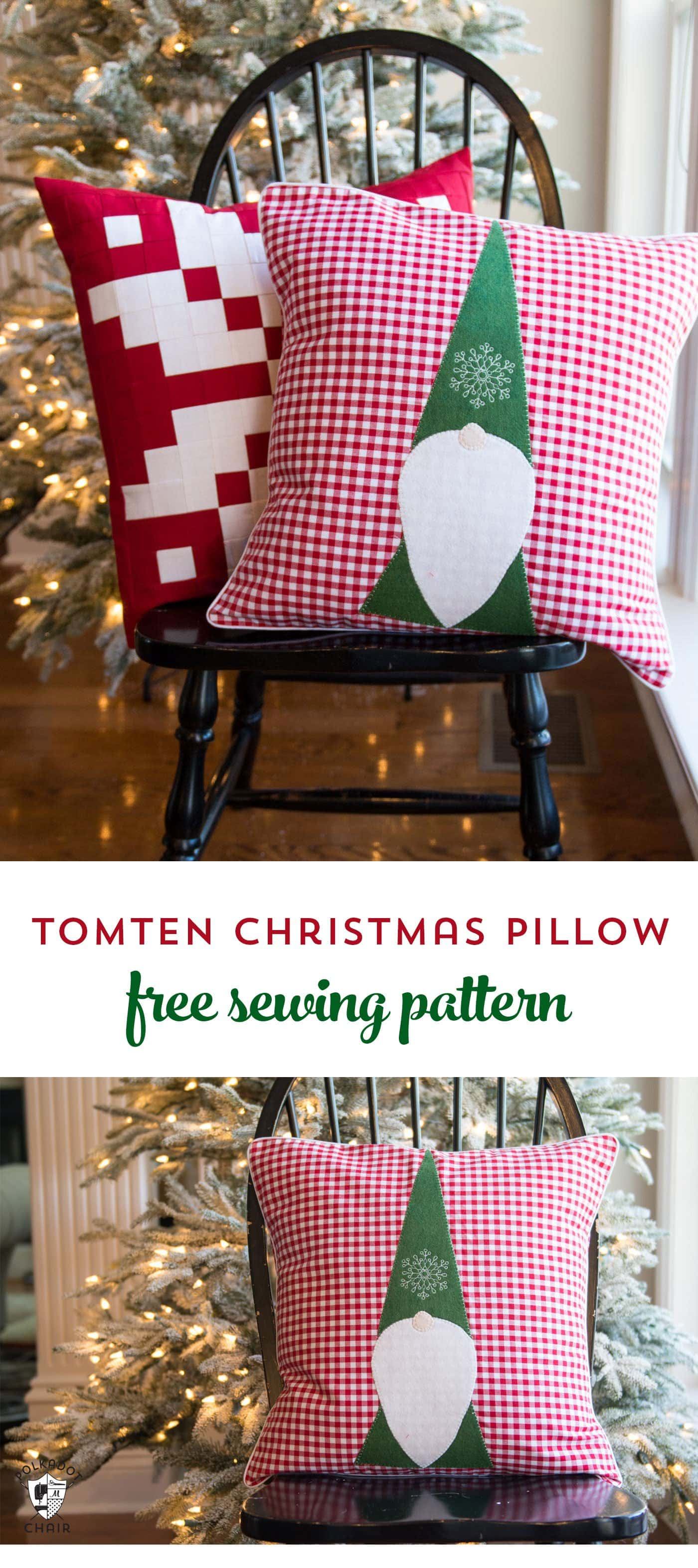 sewing patterns for chair cushions swing india tomte christmas gnome pillow pattern - the polka dot