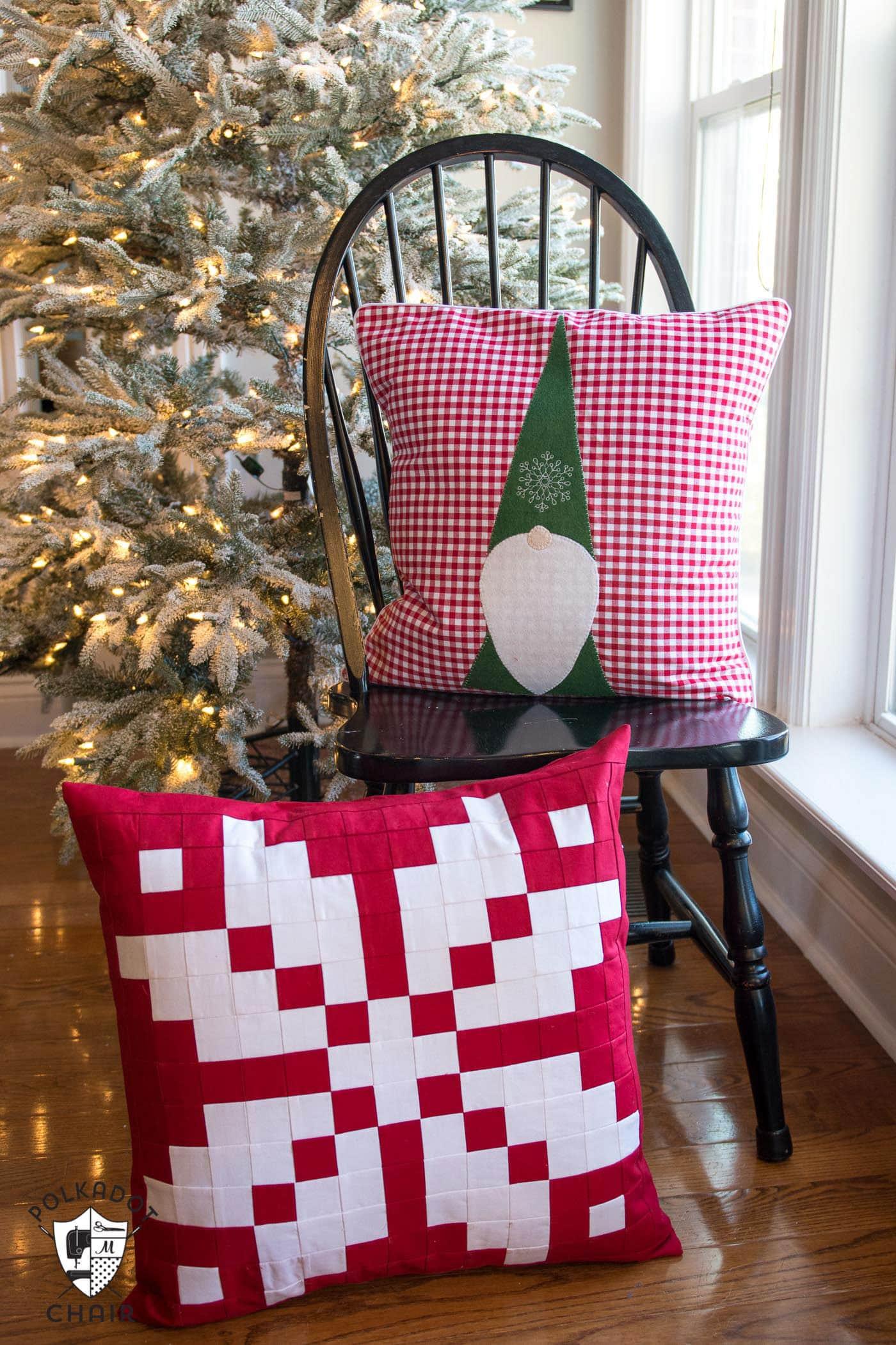 Norwegian Inspired Patchwork Snowflake Pillow  The Polka