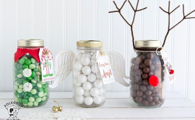 Angel Christmas Mason Jar Gifts The Polka Dot Chair