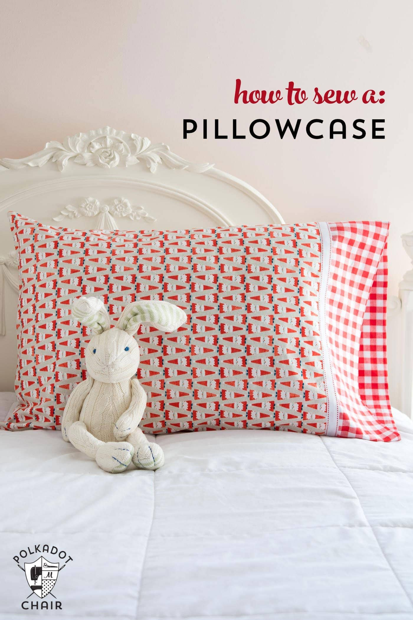 A Quick and Easy Way to Make a Pillowcase  the Polka Dot