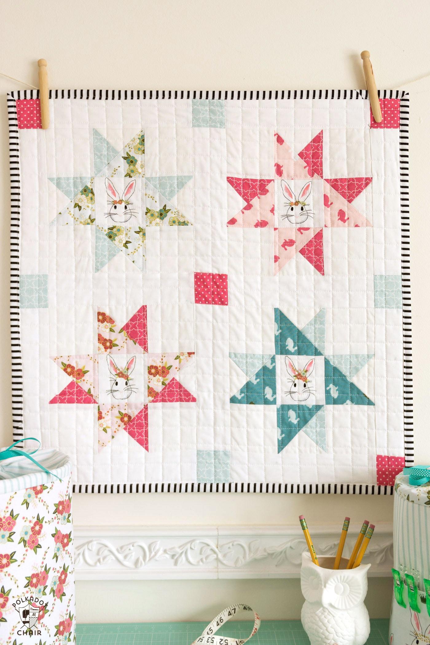 Tiny Wonderland a Free Mini Quilt Pattern  The Polka Dot