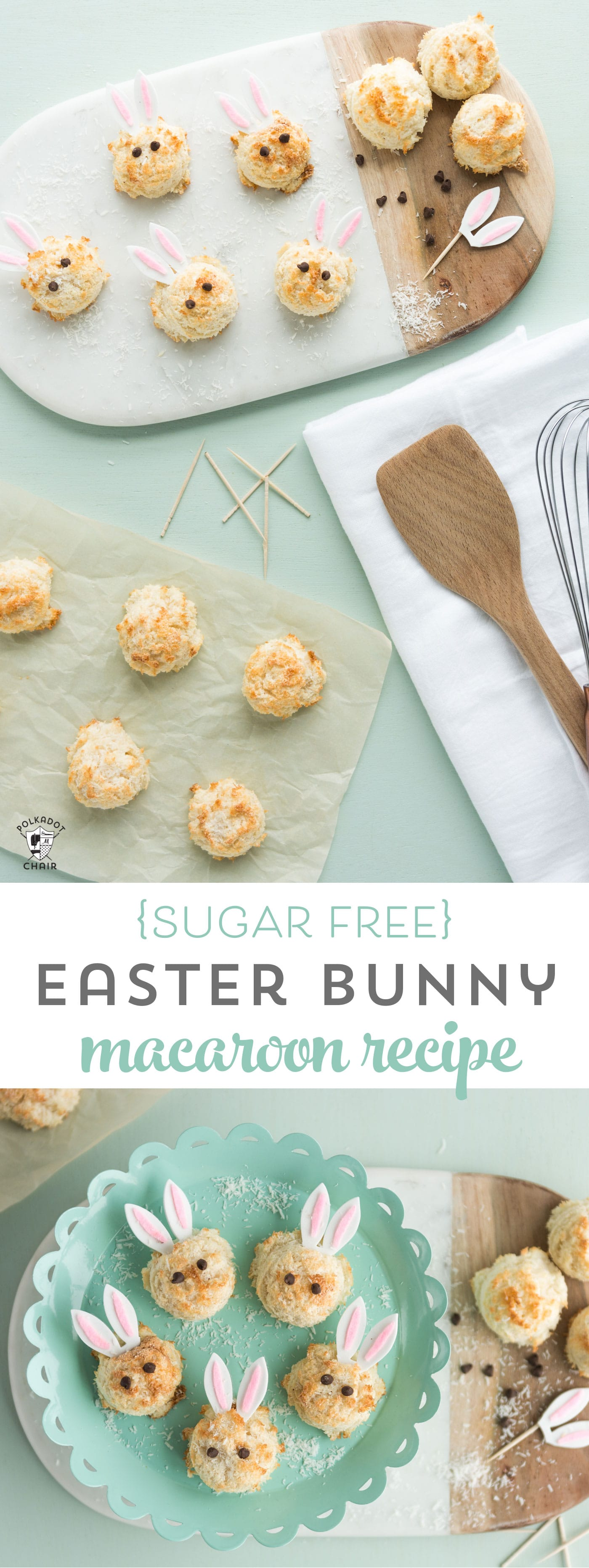 Easter Bunny Sugar Free Coconut Macaroon Recipe  The