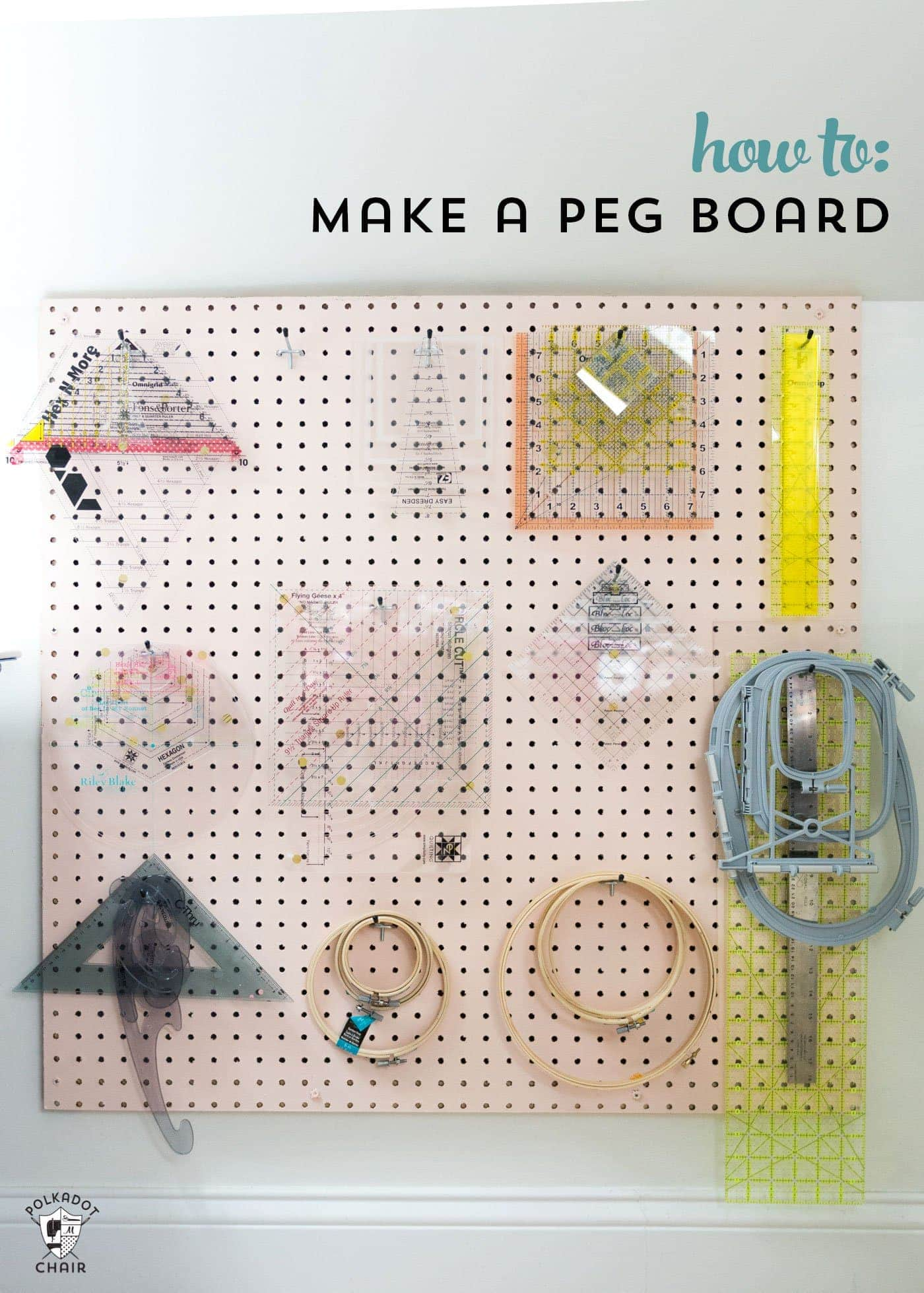 How To Make A Peg Board For Your Craft Or Sewing Room The Polka Dot Chair