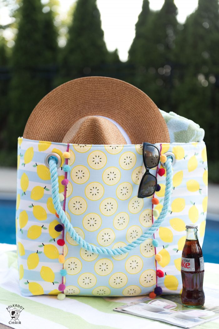 beach chair accessories brown leather recliner oversized bag sewing pattern - the polka dot
