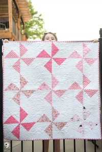 Free Baby Quilt Patterns featuring simple Turnstile Quilt ...