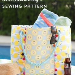 Pink Beach Chair Slip Covers Nz Oversized Bag Sewing Pattern - The Polka Dot