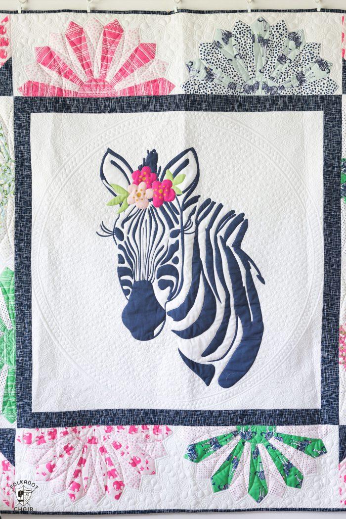 Introducing Zinnia the Zebra Quilt Pattern  The Polka Dot
