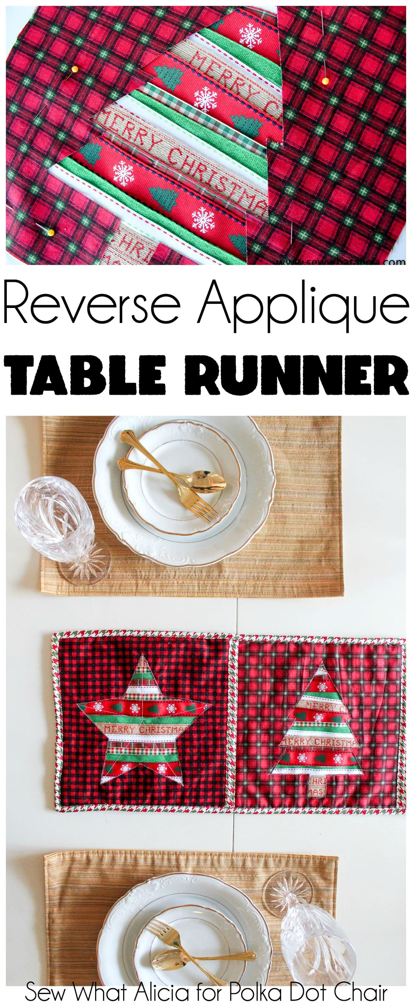 Reverse Applique Christmas Table Runner Tutorial The