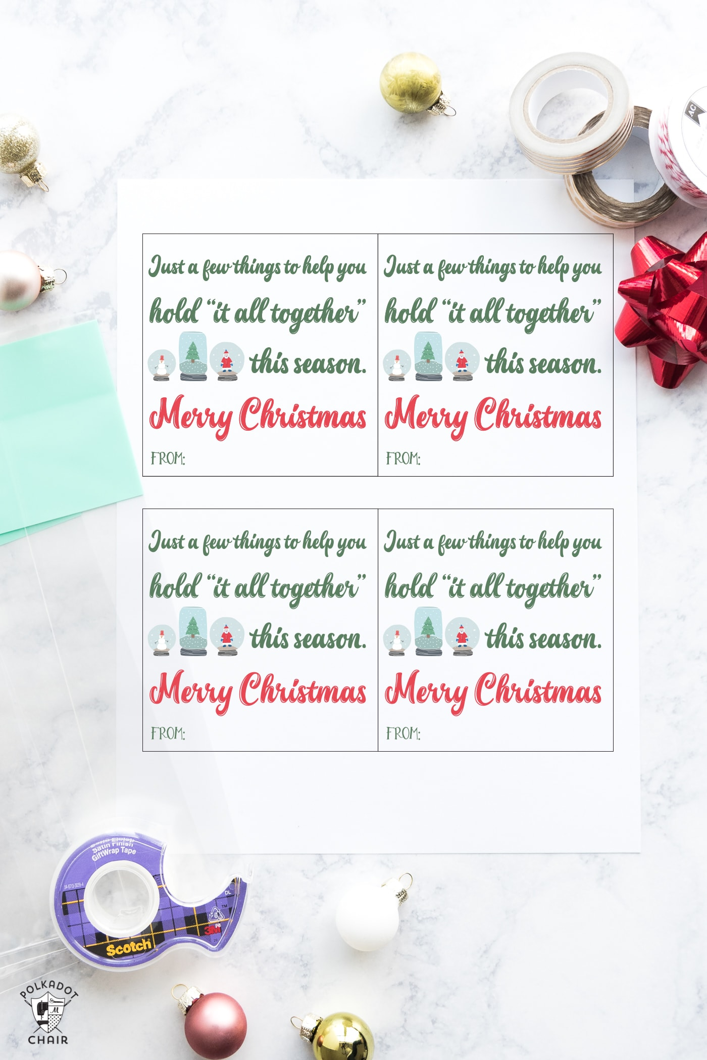 Last Minute Neighbor Gift Ideas With Free Printable Tags