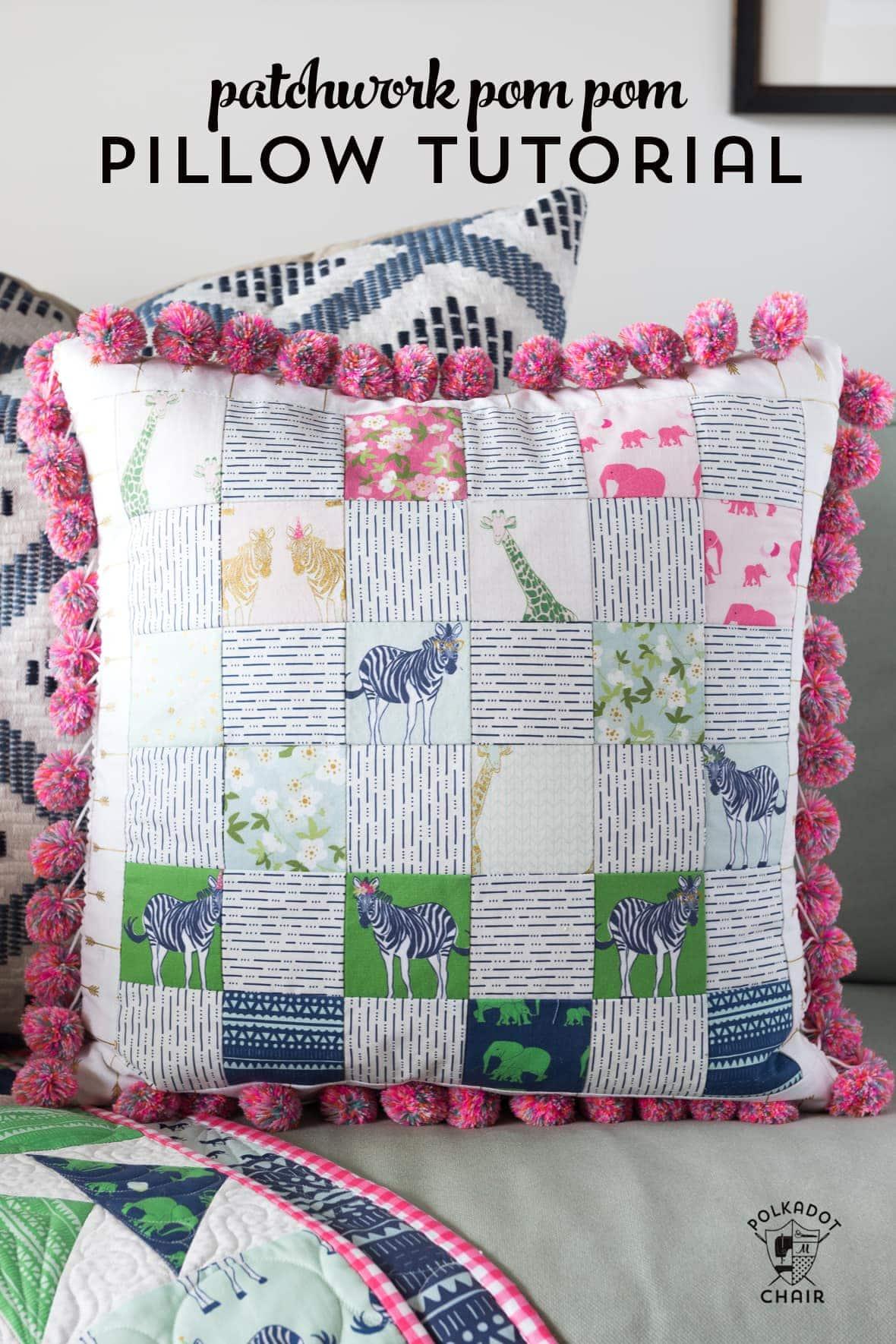 Pom Pom Patchwork Pillow Pattern  The Polka Dot Chair