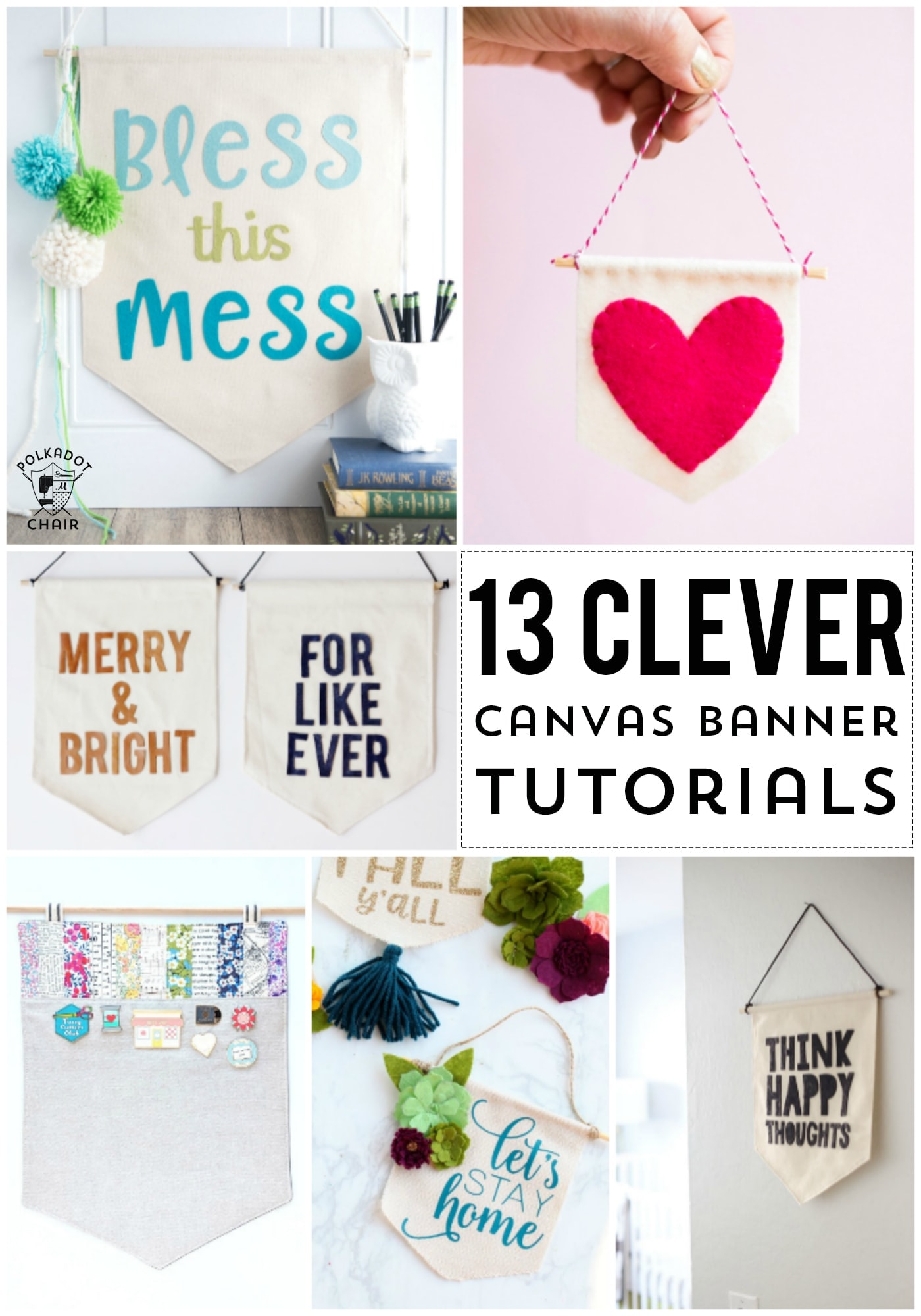 13 Diy Canvas Banner And Pennant Tutorials The Polka Dot Chair