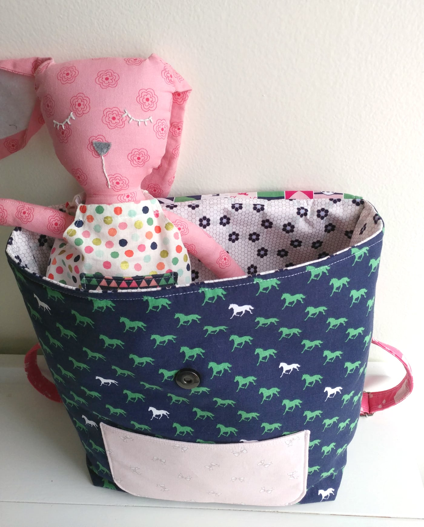 chair bags for school pattern stand swing free sewing tutorial toddler backpack the polka