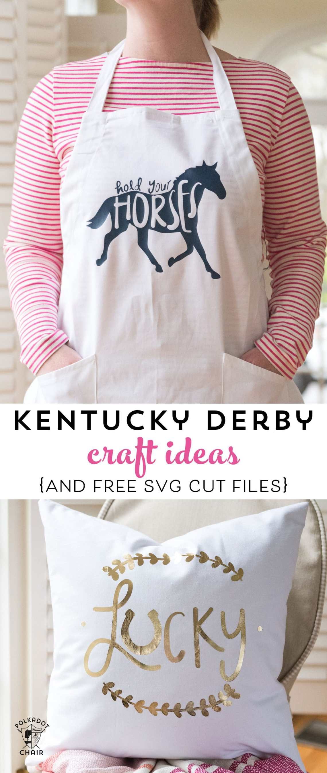 Download Kentucky Derby Craft Ideas and SVG Files - The Polka Dot Chair