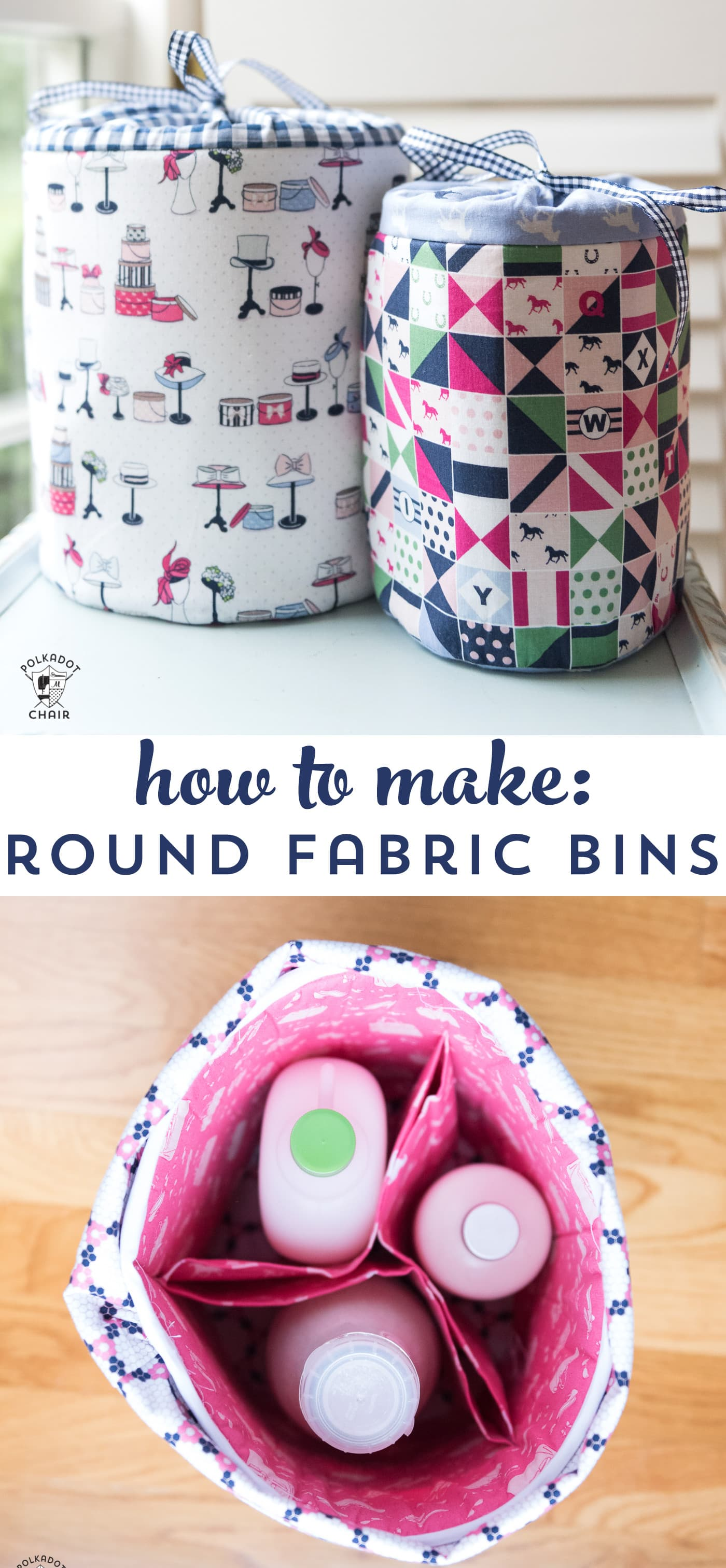 DIY Fabric Storage Bins Sewing Pattern  The Polka Dot Chair