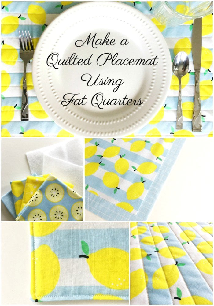 Quilted Placemat Patterns a Fat Quarter Project  The