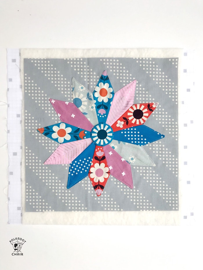 Free Mini Quilt Pattern Dresden Plate Quilt  The Polka Dot Chair