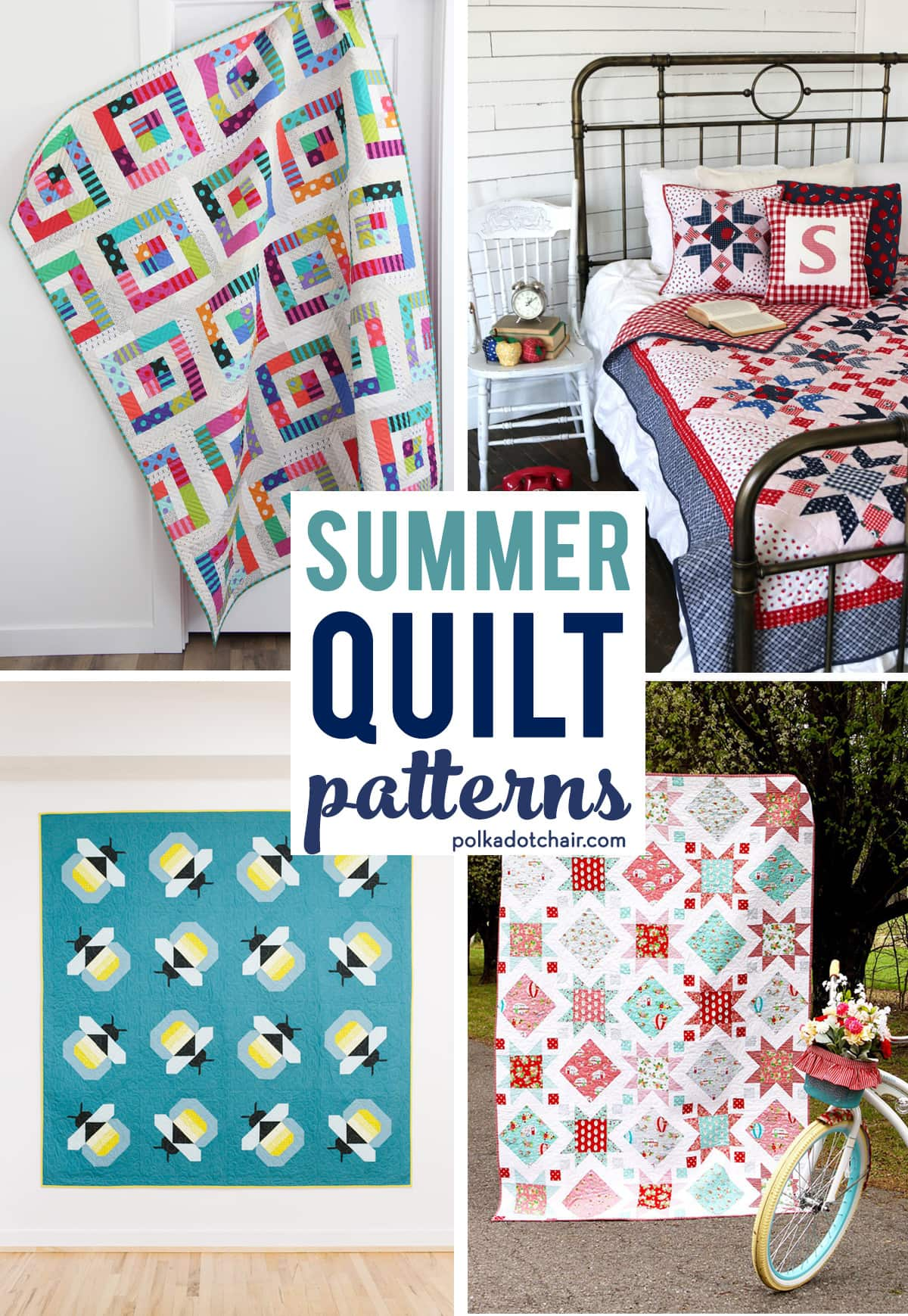 9 Fresh and Fun Summer Quilt Patterns to Start this Weekend