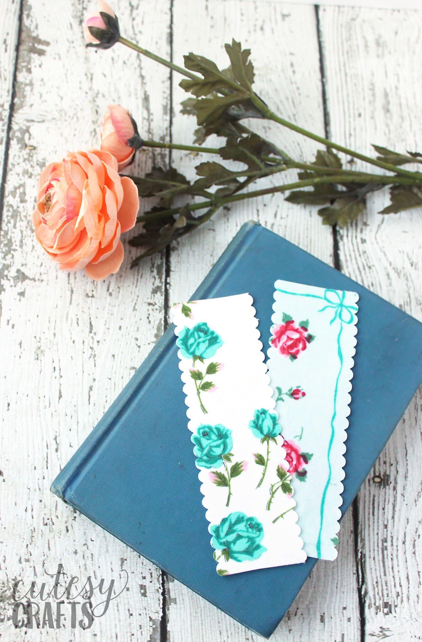 DIY Handmade Bookmarks Using Vintage Linens  The Polka